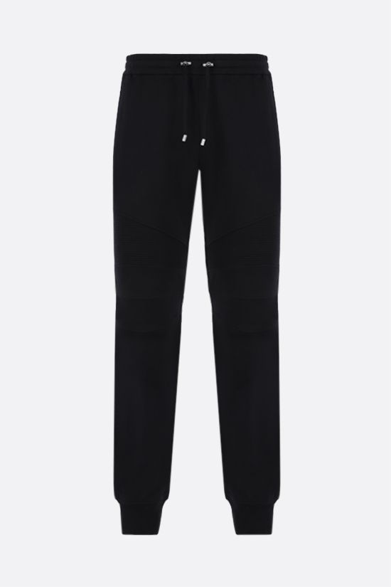 BALMAIN: Balmain logo print cotton joggers Color Black_1