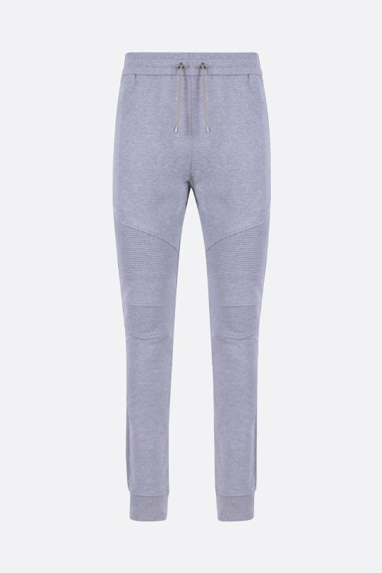 BALMAIN: Balmain logo print cotton joggers Color Grey_1