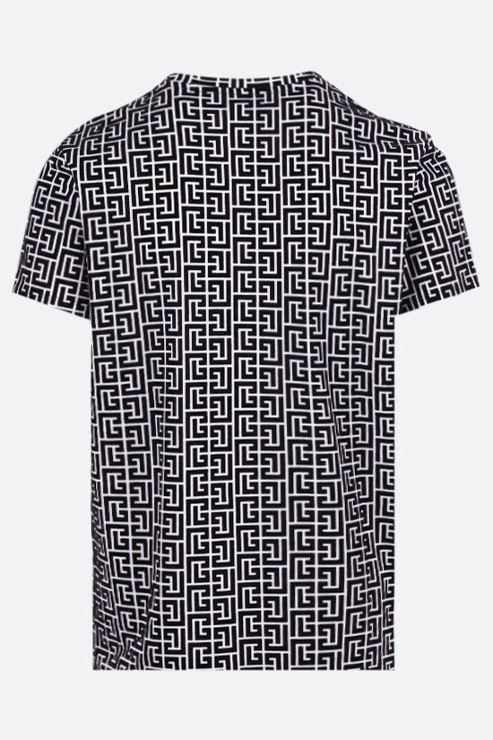 BALMAIN: Balmain monogram print cotton t-shirt Color White_2