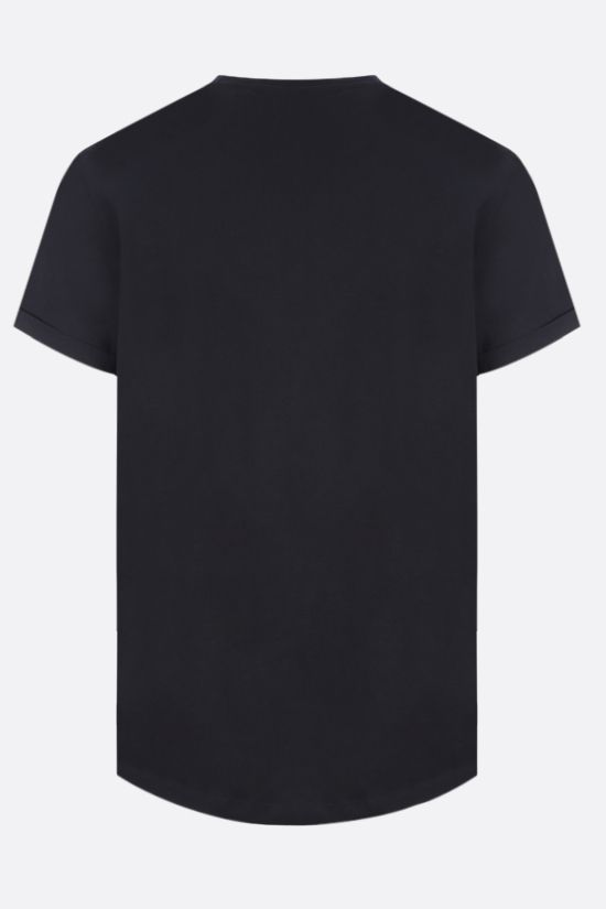 BALMAIN: Balmain medallion print cotton t-shirt Color Black_2