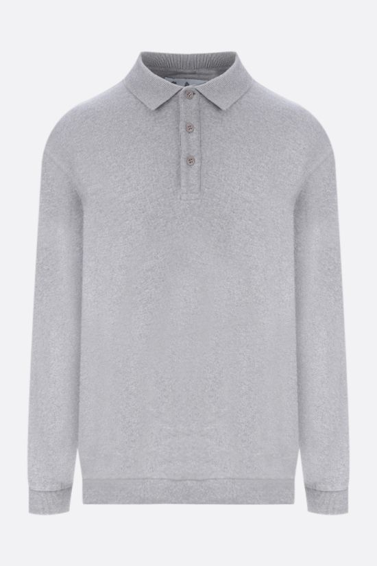 BARBOUR: polo collar cotton sweatshirt Color Grey_1