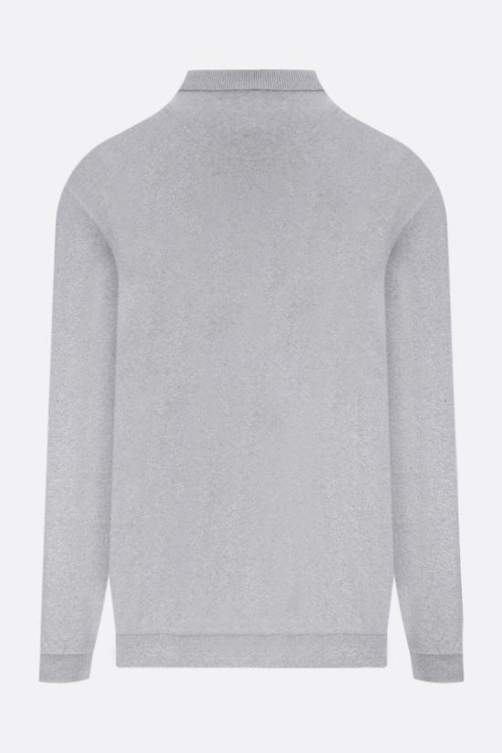 BARBOUR: polo collar cotton sweatshirt Color Grey_2