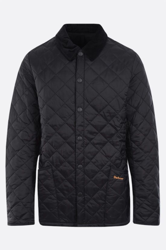 BARBOUR: Heritage Liddesdale quilted nylon jacket Color Black_1