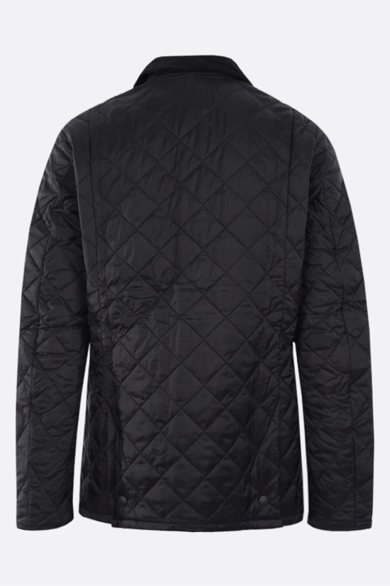 BARBOUR: Heritage Liddesdale quilted nylon jacket Color Black_2