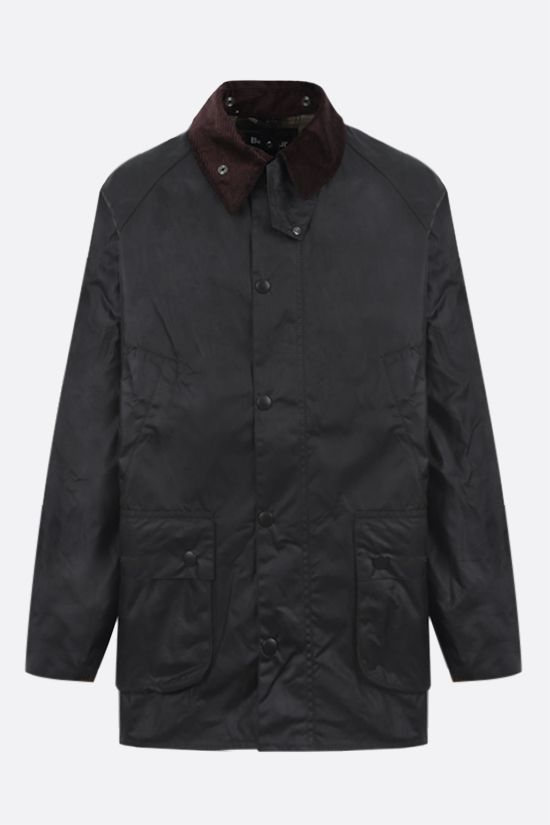 BARBOUR: Bedale waxed canvas jacket Color Green_1