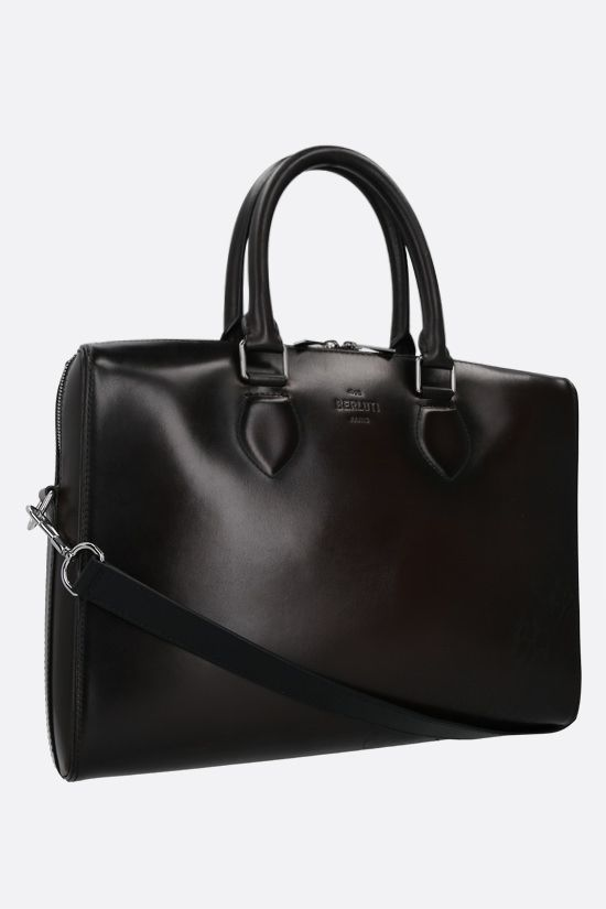 BERLUTI: Daily business bag in Scritto leather Color Black_2