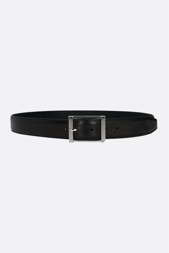 BERLUTI: First belt in Scritto leather Color Black_1