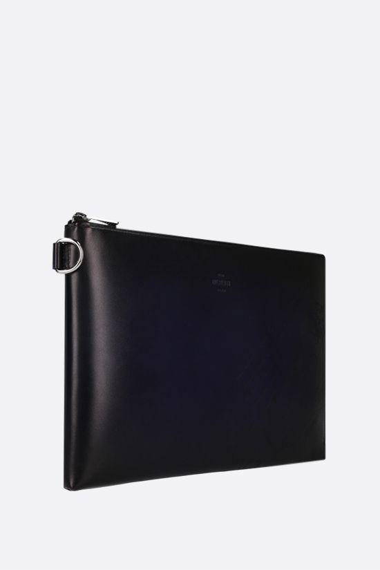 BERLUTI: Nino clutch in Scritto leather Color Blue_2