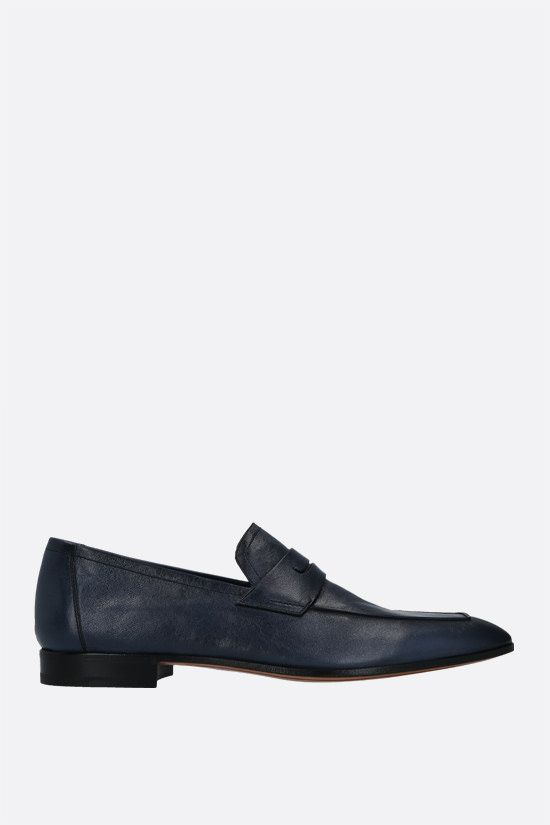 BERLUTI: Lorenzo Rimini soft nappa loafers Color Blue_1