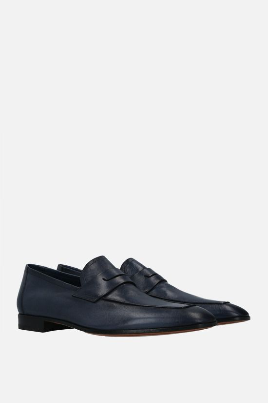 BERLUTI: Lorenzo Rimini soft nappa loafers Color Blue_2