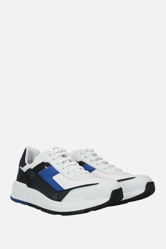 BERLUTI: Pulse 1 canvas and smooth leather sneakers Color Multicolor_2