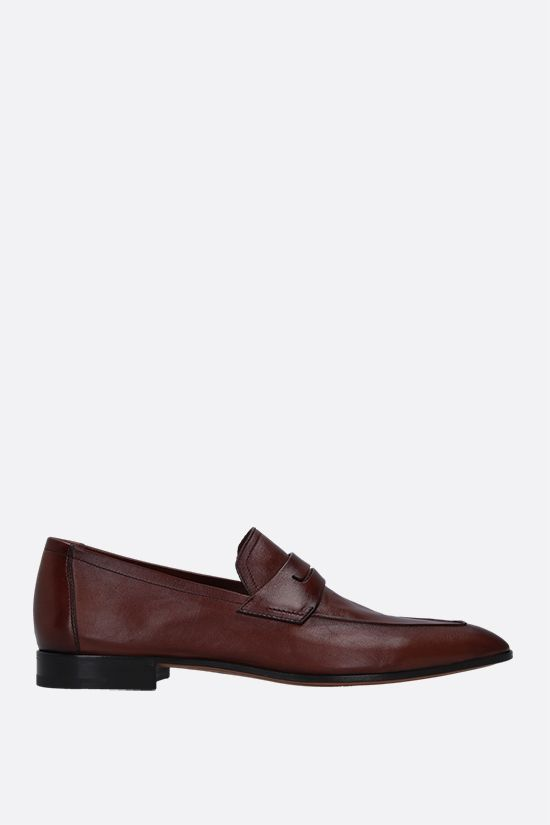 BERLUTI: Lorenzo smooth leather loafers Color Brown_1