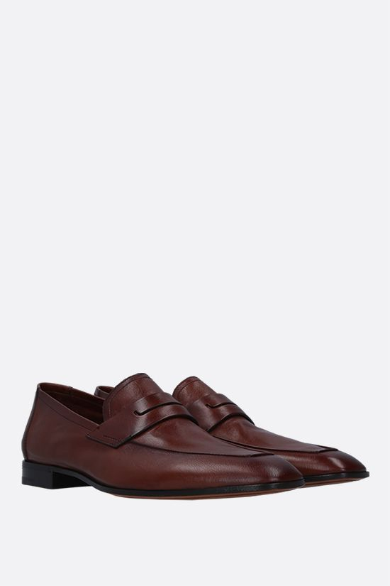 BERLUTI: Lorenzo smooth leather loafers Color Brown_2