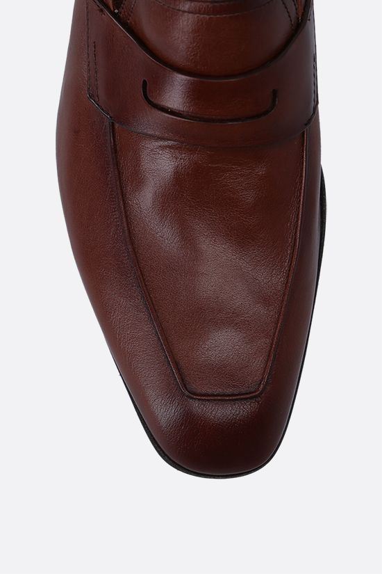 BERLUTI: Lorenzo smooth leather loafers Color Brown_4