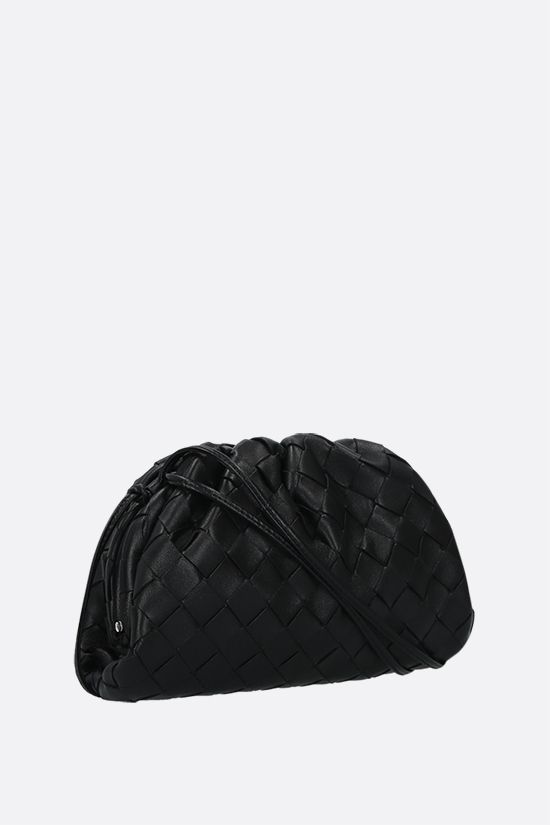 BOTTEGA VENETA: The Pouch 20 clutch in Intrecciato nappa Color Black_2