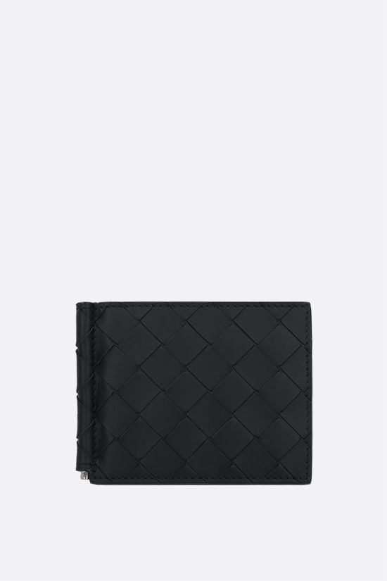 BOTTEGA VENETA: Intrecciato VN money-clip wallet Color Black_1