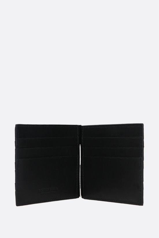 BOTTEGA VENETA: Intrecciato VN money-clip wallet Color Black_2