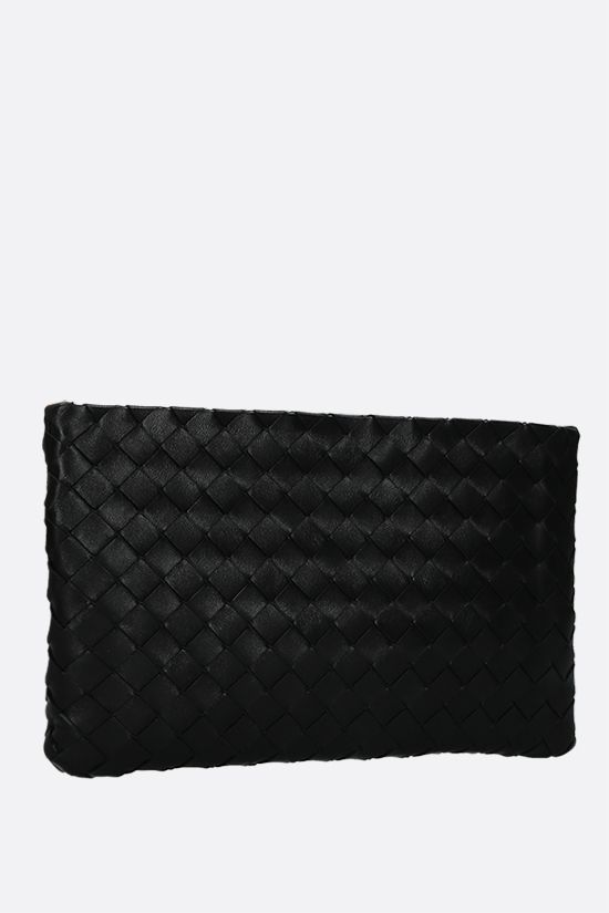 BOTTEGA VENETA: large Biletto pouch in Intrecciato nappa Color Black_2