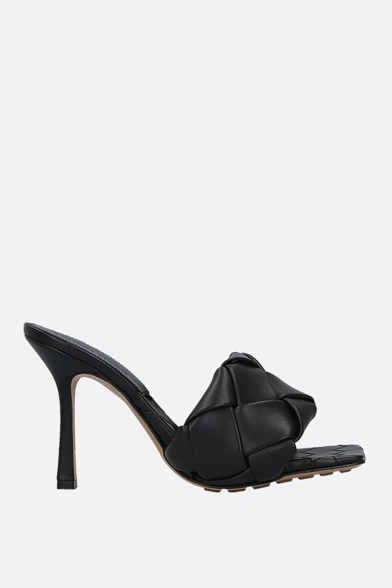 BOTTEGA VENETA: BV Lido sandals in Intrecciato nappa Color Black_1