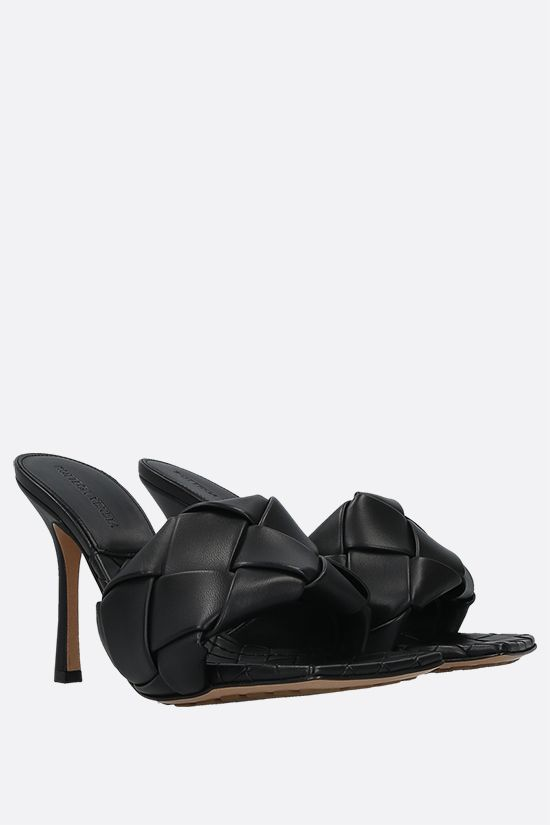 BOTTEGA VENETA: BV Lido sandals in Intrecciato nappa Color Black_2