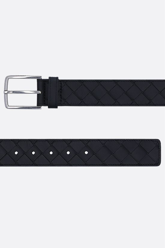 BOTTEGA VENETA: Intrecciato VN classic belt Color Black_2