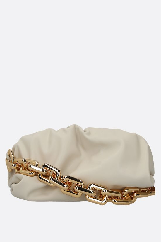 BOTTEGA VENETA: The Chain Pouch smooth leather clutch Color Multicolor_1