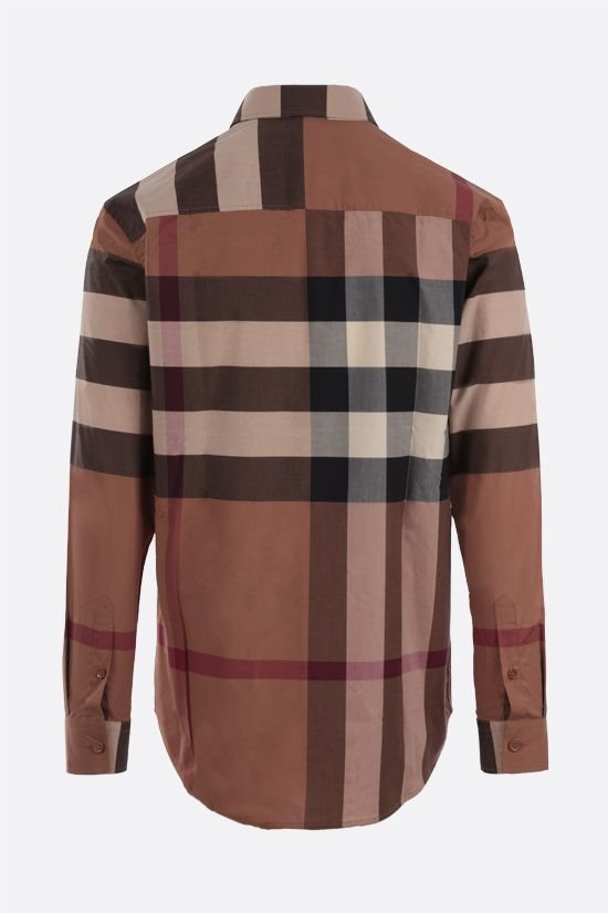 BURBERRY: camicia Chadbury in cotone stretch Colore Marrone_2