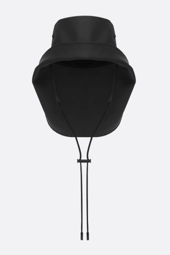 BURBERRY: rubberised cotton fisherman hat Color Black_1