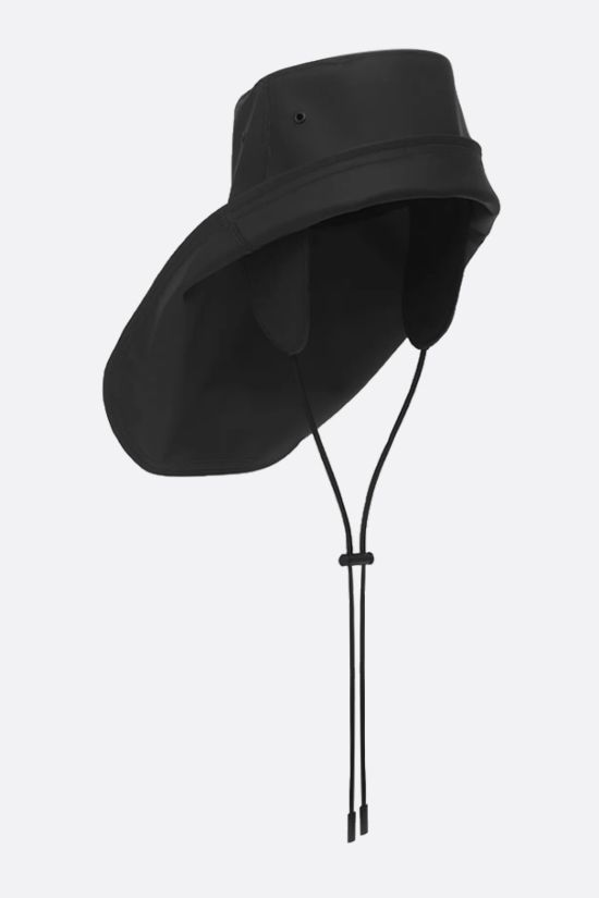 BURBERRY: rubberised cotton fisherman hat Color Black_2