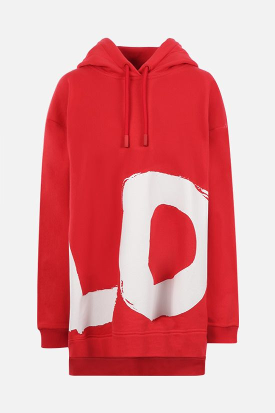 BURBERRY: Aurore Love oversize cotton hoodie Color Red_1