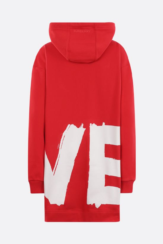BURBERRY: Aurore Love oversize cotton hoodie Color Red_2