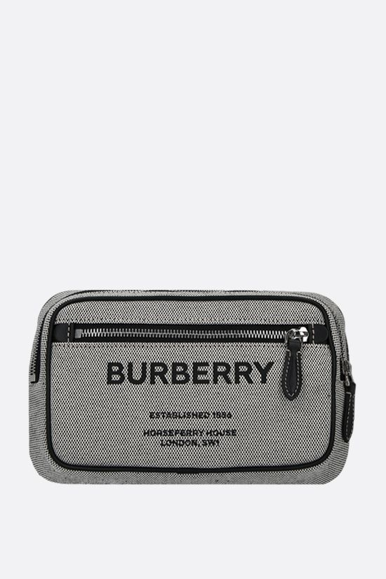 BURBERRY: marsupio West in tela Colore Nero_1