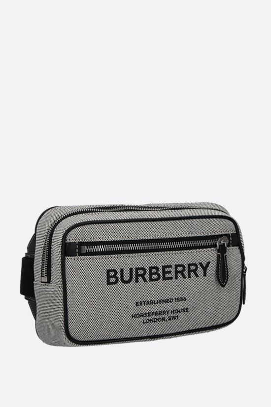 BURBERRY: marsupio West in tela Colore Nero_2