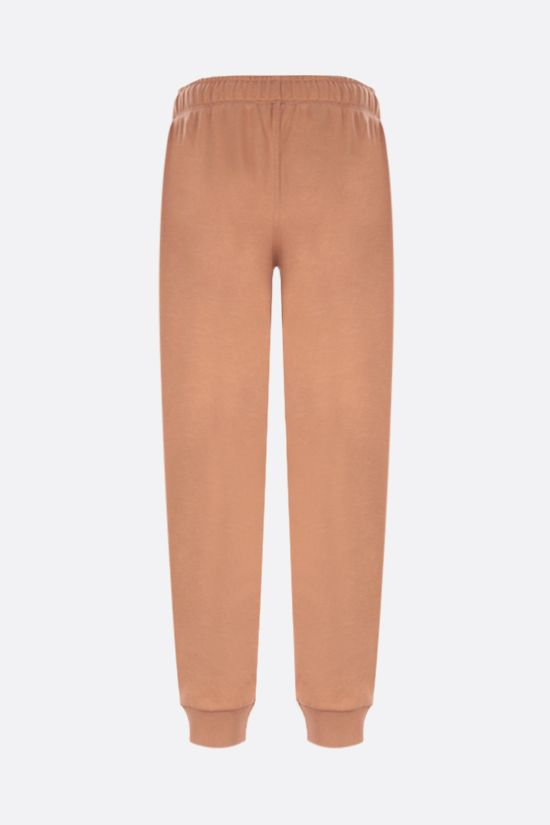 BURBERRY: pantalone jogging Esmee in cotone stampa logo Horseferry Colore Marrone_2