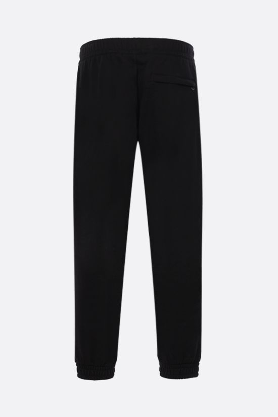BURBERRY: pantalone jogging in cotone con patch Shark Colore Nero_2