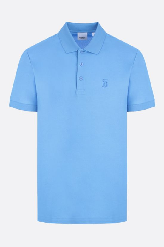 BURBERRY: Eddie cotton polo shirt Color Blue_1