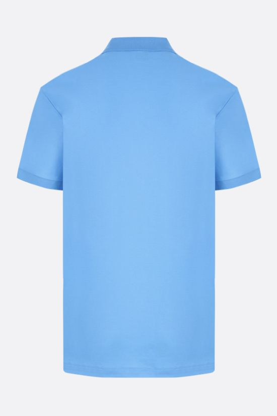 BURBERRY: Eddie cotton polo shirt Color Blue_2