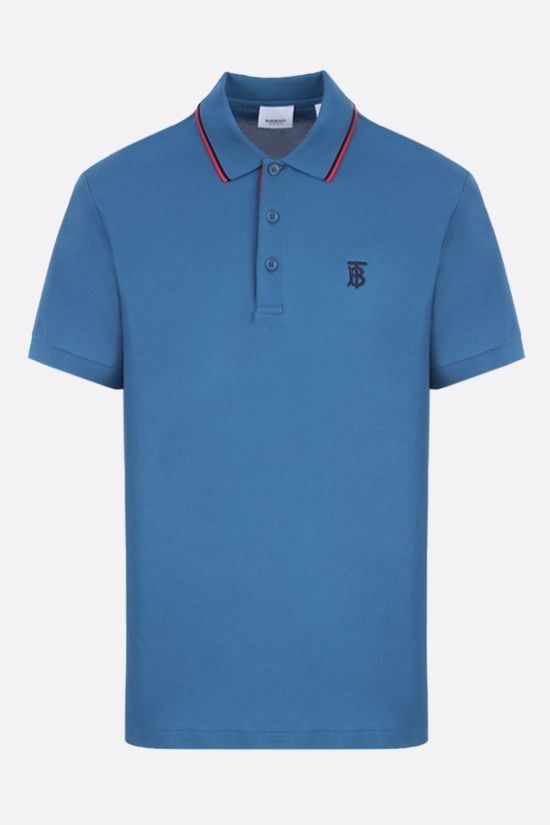 BURBERRY: Walton cotton polo shirt Color Blue_1