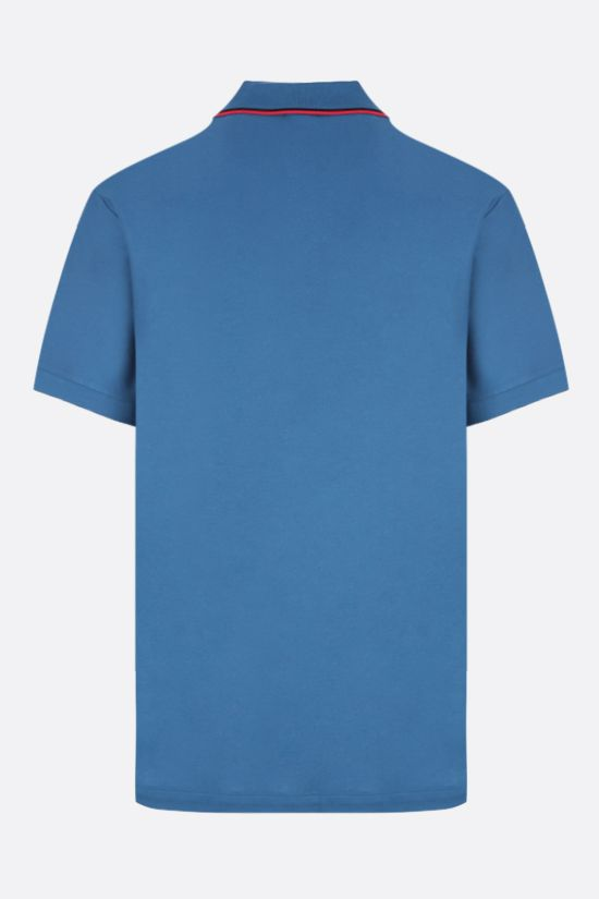 BURBERRY: Walton cotton polo shirt Color Blue_2
