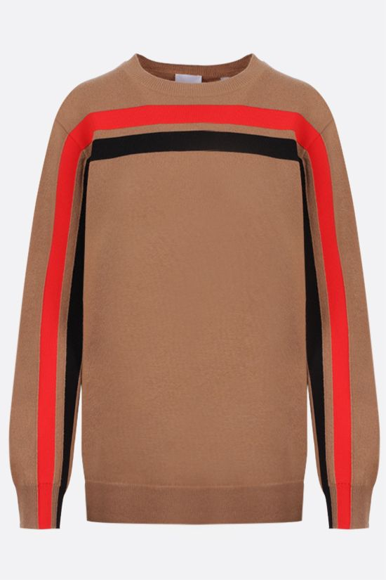 BURBERRY: pullover Steffy in cashmere tecnico Colore Neutro_1
