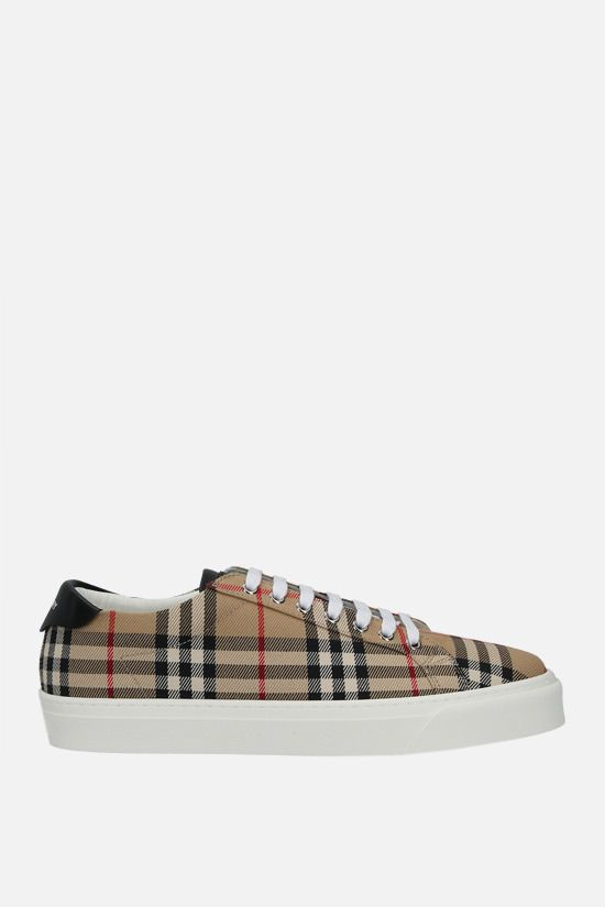 BURBERRY: Rangleton Vintage check canvas sneakers Color Brown_1