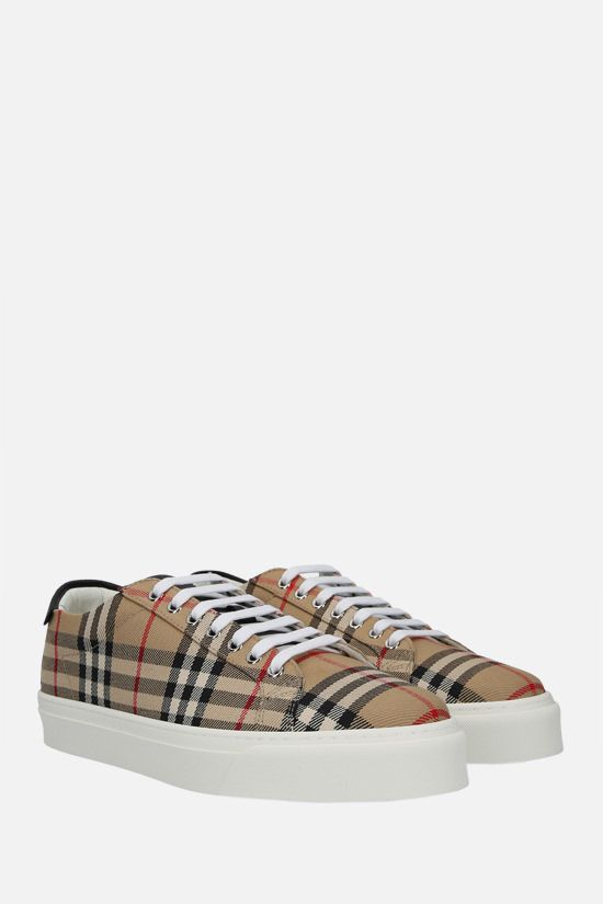 BURBERRY: Rangleton Vintage check canvas sneakers Color Brown_2