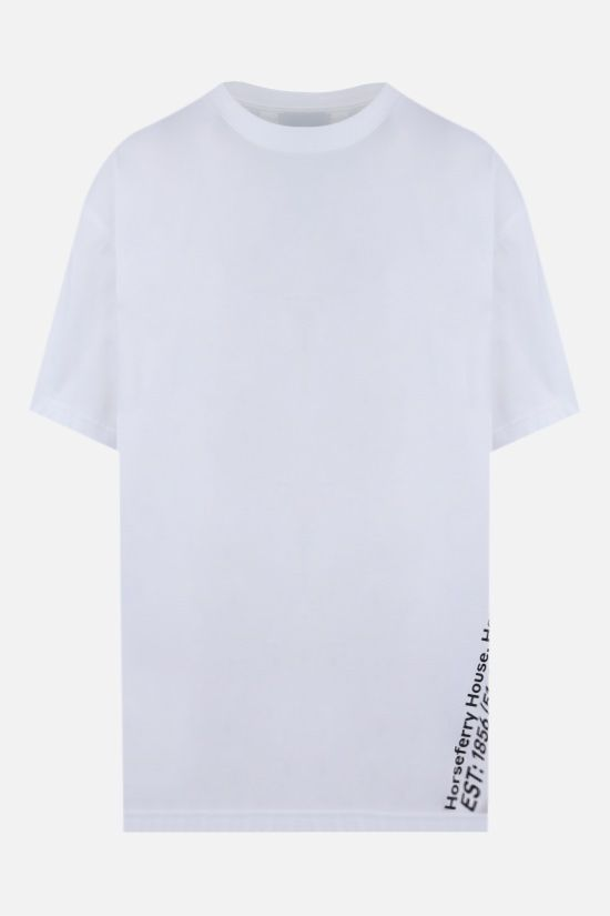 BURBERRY: t-shirt oversize Carrick Coordinates in cotone Colore Bianco_1