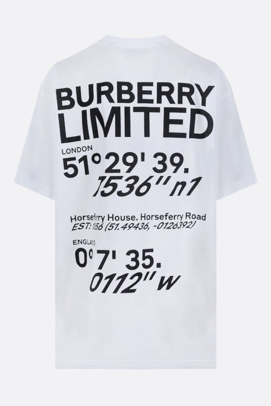 BURBERRY: t-shirt oversize Carrick Coordinates in cotone Colore Bianco_2