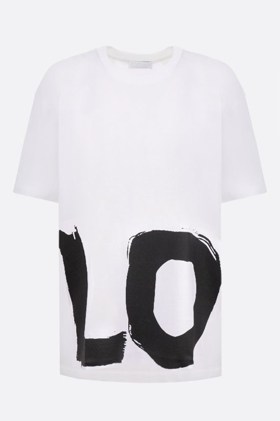 BURBERRY: Carrick Love oversize cotton t-shirt Color White_1