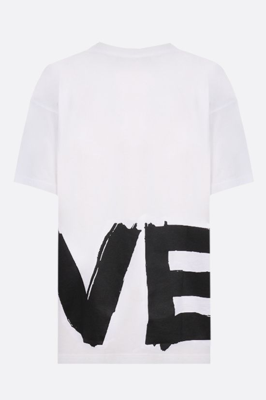 BURBERRY: Carrick Love oversize cotton t-shirt Color White_2