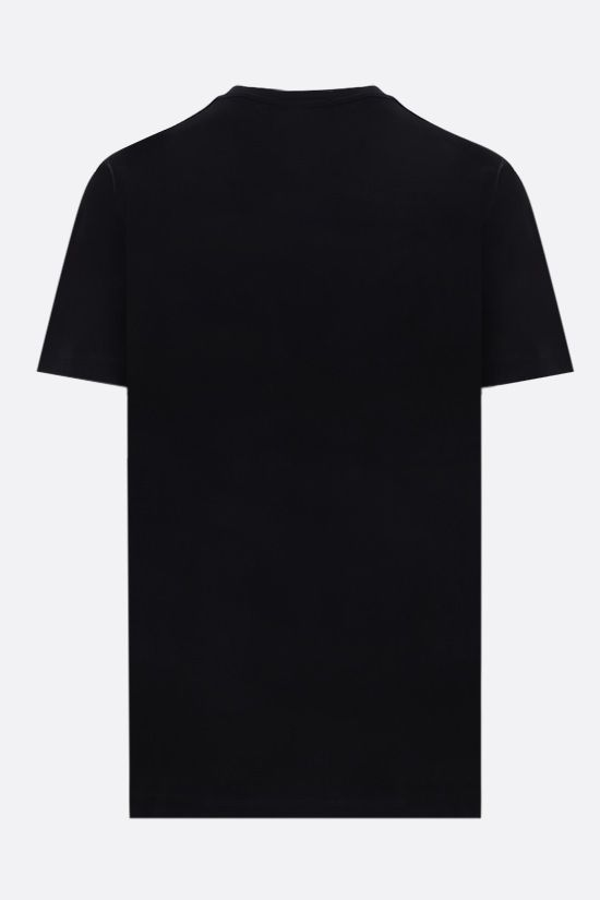BURBERRY: t-shirt oversize Carrick Eye in cotone Colore Nero_2