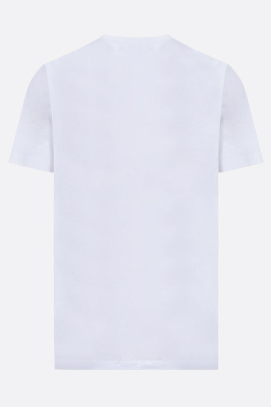 BURBERRY: Prescott oversize cotton t-shirt with Montage print Color White_2