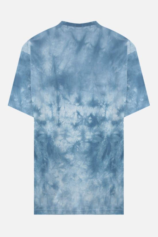 BURBERRY: t-shirt oversize Carrick Eye in cotone Colore Blu_2