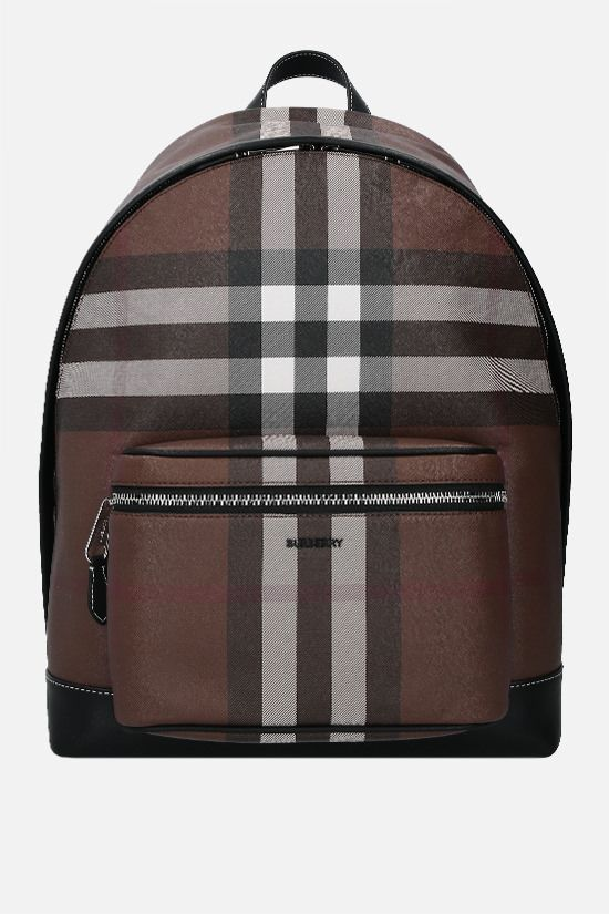 BURBERRY: Jett e-canvas backpack Color Brown_1